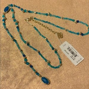 Kendra Scott gold turquoise Bethany necklace